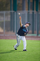 Samuel Corn (11) of Cumberland Regional High School in Bridgeton, New Jersey during the Under Armour All-American Pre-Season Tournament presented by Baseball Factory on January 14, 2017 at Sloan Park in Mesa, Arizona.  (Mike Janes/MJP/Four Seam Images)