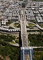 aerial photograph George Washington Bridge, Manhattan, New York City