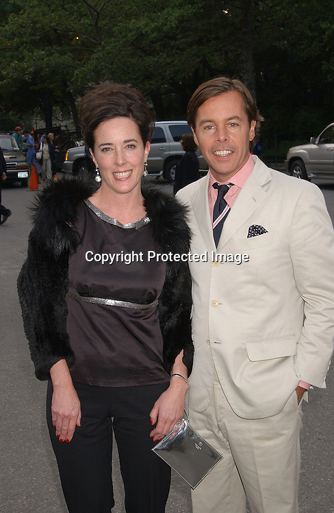 Kate Spade & husb Andy                               ..at the Fresh Air Fund's Salute to American Heroes Gala on ..June 5,2003 at The Tavern on The Green...Photo by Robin Platzer, Twin Images