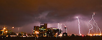 Lightning storm over Gaborone