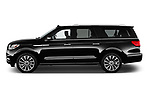 Car driver side profile view of a 2019 Lincoln Navigator Select L Extended 4x2 5 Door SUV
