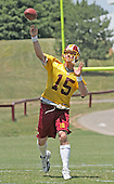 Washington Redskins quarterback Todd Collins (15) works out during his team's mini-camp at Redskins Park in Ashburn, Virginia on June 16, 2006.<br /> Credit: Arnie Sachs / CNP