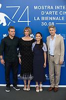 Matt Damon, Kristen Wiig, Hong Chau and Alexander Payne at the Downsizing photocall, 74th Venice Film Festival in Italy on 30 August 2017.<br /> <br /> Photo: Kristina Afanasyeva/Featureflash/SilverHub<br /> 0208 004 5359<br /> sales@silverhubmedia.com
