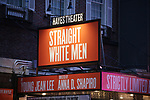 Theatre Marquee for the Broadway opening night of 'Straight White Men' at Hayes Theater on July 23, 2018 in New York City.