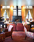 The Ritz-Carlton, Georgetown, is built in a refurbished building that served as an incinerator from 1932 - 1971.  From the lobby staircase, the incinerator operator's cabin can be clearly seen.  The lobby also features a major work by the Starn Twins.