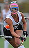 Garden City No. 1 Michaela Bruno bounces a ball on her stick as she moves downfied during the Nassau County varsity field hockey Class B final against Manhasset at Adelphi University on Sunday, November 1, 2015. Garden City won by a score of 9-0.<br /> <br /> James Escher