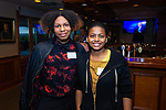 WATERBURY,  CT-050719JS20- Waterbury Youth Services staff members LaGar'e Martinez and Michelle Baxter at the Waterbury Youth Services Grill & Chill event held at the Country Club of Waterbury. Waterbury Youth Services are celebrating 43 years of helping area youth. <br /> Jim Shannon Republican American