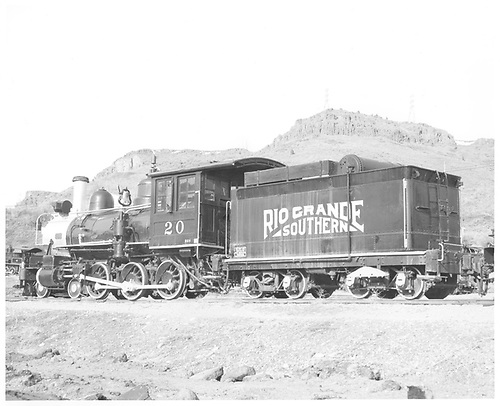 RGS #20 at Colorado Railroad Museum.<br /> RGS  Colorado Railroad Museum, Golden, CO  Taken by Payne, Andy M. - 3/3/1974