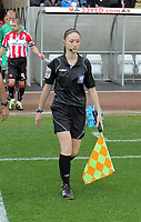 Pictured: Assistant referee Sian Massey. Saturday 07 May 2011<br /> Re: Swansea City FC v Sheffield United, npower Championship at the Liberty Stadium, Swansea, south Wales.