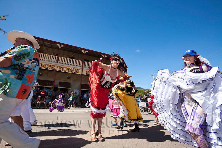 Parade during Cooktown Discovery Festival (held in June).  Cooktown, Queensland, Australia