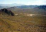 Aerial image of Phoenix Arizona Resorts and Mountain Ranges
