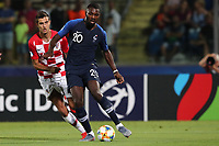 Nikola Moro of Croatia and Marcus Thuram of France compete for the ball<br /> Serravalle 21-06-2019 Stadio San Marino Stadium <br /> Football UEFA Under 21 Championship Italy 2019<br /> Group Stage - Final Tournament Group C<br /> France - Croatia<br /> Photo Cesare Purini / Insidefoto