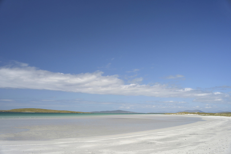 Sandy beach on North Uist, Outer Hebrides