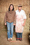 Families gather after Christmas at the Cuneo Ranch in California's Mother Lode. Robin and her brother Jimmy.