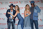 (L-R) Chris Knight, Keltie Knight, Vanessa Ray, and Jake Wilson arrive at Heidi Klum's 18th Annual Halloween Party presented by Party City and SVEDKA Vodka at Magic Hour Rooftop Bar & Lounge at Moxy Times Square, on October 31, 2017.