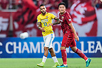 Jiangsu FC Forward Alex Teixeira (L) fights for position with Shanghai FC Midfielder Cai Huikang (R) during the AFC Champions League 2017 Round of 16 match between Shanghai SIPG FC (CHN) vs Jiangsu FC (CHN) at the Shanghai Stadium on 24 May 2017 in Shanghai, China. Photo by Marcio Rodrigo Machado / Power Sport Images