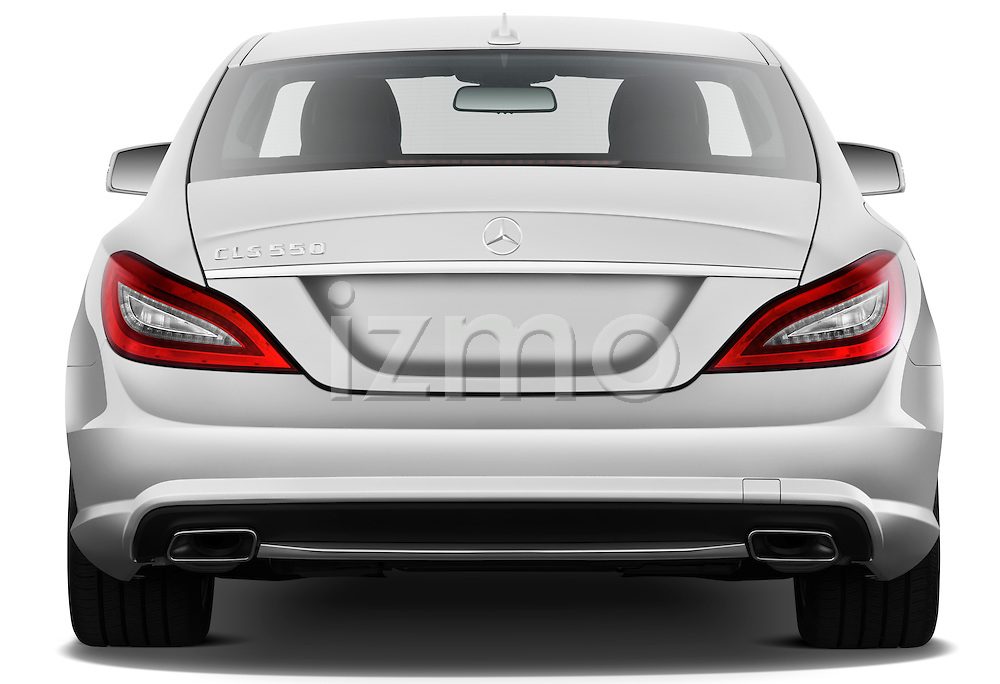 Straight rear view of a 2012 Mercedes CLS Class