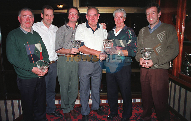 Lto Right Eamon Toan, Martin Lynch Sponsor, Larry Reilly, Aiden Hanratty Chairman, Joe Quinn VCaptain Castleblaney and Gery Robinson 2nd place winners of the Stabannon Paranells Golf Classic...Picture Fran Caffrey.Mid-Louth