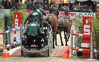 Partner Pferd 2009 - Messegelände Leipzig Neue Messe - Springreiten Show und Messe für Pferdeartikel - Fahren- im Bild:  Feature - Auch zu später Stunde war die Arena noch gut besucht - die Vierspänner waren Unterhaltung pur.<br /> Foto: Norman Rembarz<br /> <br /> Norman Rembarz , Autorennummer 41043728 , Holbeinstr. 14, 04229 Leipzig, Tel.: 01794887569, Hypovereinsbank: BLZ: 86020086, KN: 357889472, St.Nr.: 231/261/06432 - Jegliche kommerzielle Nutzung ist honorar- und mehrwertsteuerpflichtig! Persönlichkeitsrechte sind zu wahren. Es wird keine Haftung übernommen bei Verletzung von Rechten Dritter. Autoren-Nennung gem. §13 UrhGes. wird verlangt. Weitergabe an Dritte nur nach  vorheriger Absprache.