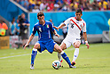 Matteo Darmian (ITA), Cristian Gamboa (CRC), JUNE 20, 2014 - Football / Soccer : FIFA World Cup Brazil 2014 Group D match between Italy 0-1 Costa Rica at Arena Pernambuco in Recife, Brazil. (Photo by Maurizio Borsari/AFLO) [0855]