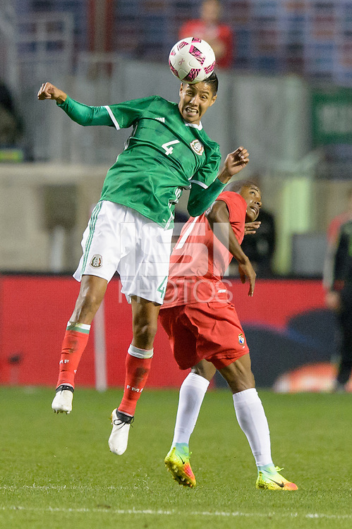 Bridgeview, IL, USA - Tuesday, October 11, 2016: Mexico defender Hugo Ayala (4) during an international friendly soccer match between Mexico and Panama at Toyota Park. Mexico won 1-0.