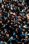 "March 1982, Lebanon: in Saïda, inside ""Acre"" elementary school named after the city of Palestine."