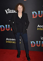 HOLLYWOOD, CA - MARCH 11: Rhea Perlman attends the premiere of Disney's 'Dumbo' at El Capitan Theatre on March 11, 2019 in Los Angeles, California.<br /> CAP/ROT/TM<br /> &copy;TM/ROT/Capital Pictures