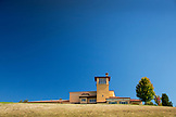 USA, Oregon, Willamette Valley, exterior of the Domaine Serene tasting room and estate, Dayton