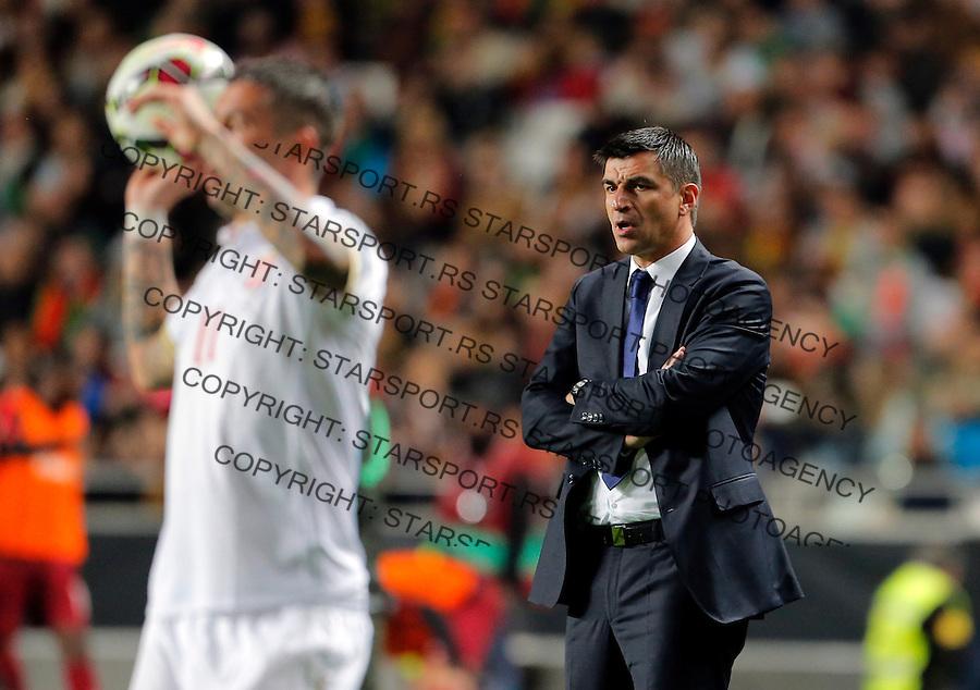 Radovan Curcic Uefa EURO 2016 qualifying football match between Portugal and Serbia in Lisboa, Portugal on March 29. 2015.  (credit image & photo: Pedja Milosavljevic / STARSPORT)