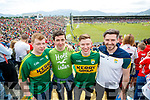 Kerry Fans at Fitzgerald Stadium Jake Doherty (Killarney), William Stack (Castleisland), Denis Doherty (Killarney) and Ronan McCarthy (Castleisland).