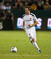 CARSON, CA – August 20, 2011: LA Galaxy defender Todd Dunivant (2) during the match between LA Galaxy and San Jose Earthquakes at the Home Depot Center in Carson, California. Final score LA Galaxy 2, San Jose Earthquakes 0.