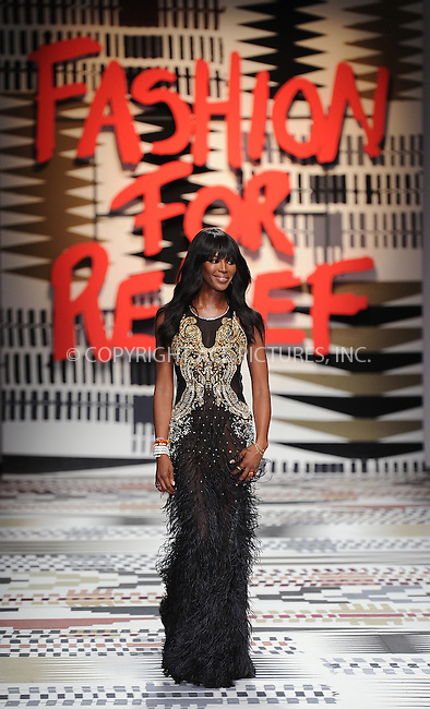 WWW.ACEPIXS.COM<br /> <br /> February 19 2015, London<br /> <br /> Naomi Campbell walks the runway at the Fashion For Relief charity fashion show to kick off London Fashion Week 2015 at Somerset House on February 19 29015 in London<br /> <br /> By Line: Famous/ACE Pictures<br /> <br /> <br /> ACE Pictures, Inc.<br /> tel: 646 769 0430<br /> Email: info@acepixs.com<br /> www.acepixs.com