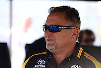 Sept. 28, 2012; Madison, IL, USA: NHRA funny car driver Jeff Arend during qualifying for the Midwest Nationals at Gateway Motorsports Park. Mandatory Credit: Mark J. Rebilas-