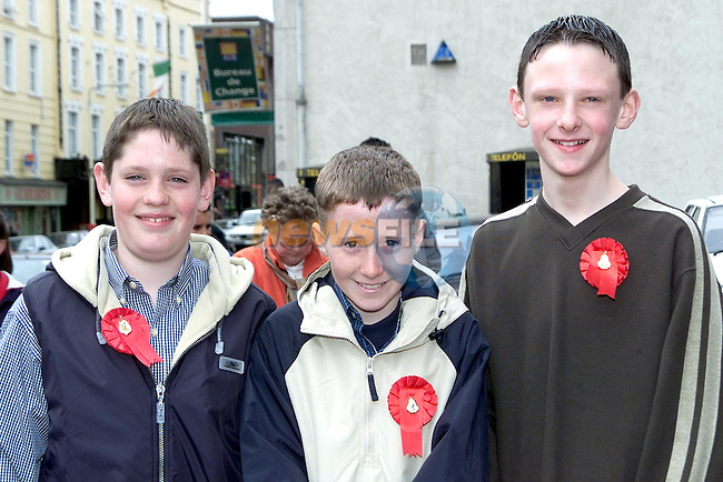 Shane O'Keeffe, Westcourt, Andrew McDonagh, Ashfield Grove and Thomas McGahon, Matson Lodge, pupils from St. Joseph's C.B.S., Sundays Gate who were confirmed in St. Peter's Church on Wednesday..Picture Paul Mohan Newsfile