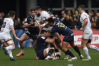 11th January 2020, Parc des Sports Marcel Michelin, Clermont-Ferrand, Auvergne-Rhône-Alpes, France; European Champions Cup Rugby Union, ASM Clermont versus Ulster;  Iasia Toeava (asm) tackles Stuart Mc Closkey (ulster)