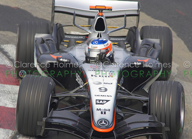 MONTREAL - JUNE 11: Kimi Raikkonen turns the wheels during Saturday practice for the Canadian F1 Grand Prix at the Circuit Gilles-Villeneuve June 11, 2005 in Montreal, Canada.