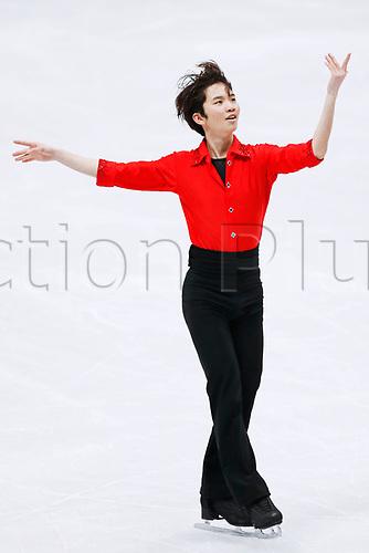 24th March 2018, Mediolanum Forum, Milan, Italy;  Kazuki Tomono (JPN), MARCH 24, 2018 - Figure Skating : ISU World Figure Skating Championship  Men's Free Skating at Mediolanum Forum in Milan, Italy.
