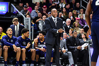 Wednesday, January 4, 2016: Georgetown Hoyas head coach John Thompson III coaches from the baseline during the NCAA basketball game between the Georgetown Hoyas and the Providence Friars held at the Dunkin Donuts Center, in Providence, Rhode Island. Providence defeats Georgetown 76-70 in regulation time. Eric Canha/CSM