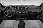 Stock photo of straight dashboard view of a 2015 Chevrolet Silverado 2500 Hd Work Truck Regular Cab Lwb 2 Door Pickup 2WD Dashboard