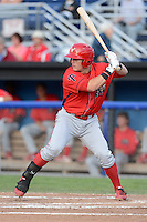 Williamsport Crosscutters first baseman Logan Pierce (25) during a game against the Batavia Muckdogs on September 4, 2013 at Dwyer Stadium in Batavia, New York.  Williamsport defeated Batavia 6-3 in both teams season finale.  (Mike Janes/Four Seam Images)