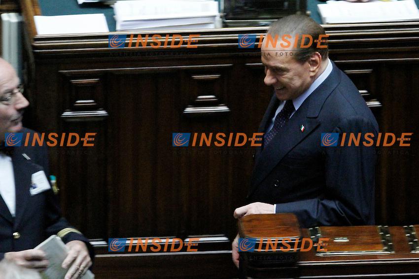 L onorevole Silvio Berlusconi ..Voto di Fiducia alla Camera dei Deputati sulla nuova Manovra Economica..Roma 16 Dicembre  2011..Photo Serena Cremaschi Insidefoto..............................