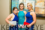 Enjoying the Rathmore Debs at Ballyroe Heights Hotel on Tuesday were l-r  Marilyn O'Leary, Sarah Murphy and Marissa O'Leary