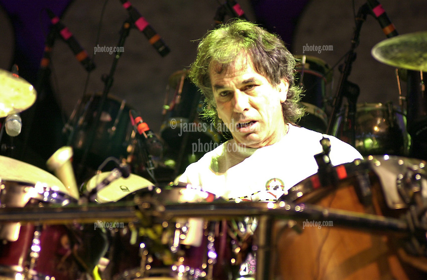 Mickey Hart of The Dead performing in concert at the Tweeter Center, Mansfield MA 22 June 2003