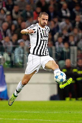 30.09.2015. Turin, Italy. Champions League. Juventus versus Sevilla. Leonardo Bonucci in action for Juventus