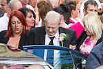 © Joel Goodman - 07973 332324 . 09/08/2013 . Salford , UK . The funeral of Linzi Ashton at St Paul's C of E Church in Salford , today (9th August 2013) . Linzi Ashton (25) was found murdered in her home on Westbourne Road in Salford on 29th June . Michael Cope is standing trial, accused of murdering, raping and assaulting her . Photo credit : Joel Goodman