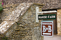 Manor Farm B & B Guest House in Kelmscott, The Cotswolds, Gloucestershire, UK