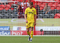 Fleetwood Town's Wes Burns cuts a dejected figure after scoring an own goal<br /> <br /> Photographer David Shipman/CameraSport<br /> <br /> The EFL Sky Bet League One - Doncaster Rovers v Fleetwood Town - Saturday 17th August 2019  - Keepmoat Stadium - Doncaster<br /> <br /> World Copyright © 2019 CameraSport. All rights reserved. 43 Linden Ave. Countesthorpe. Leicester. England. LE8 5PG - Tel: +44 (0) 116 277 4147 - admin@camerasport.com - www.camerasport.com