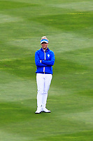 Charley Hull (EUR) on the 1st fairway during Day 3 Singles at the Solheim Cup 2019, Gleneagles Golf CLub, Auchterarder, Perthshire, Scotland. 15/09/2019.<br /> Picture Thos Caffrey / Golffile.ie<br /> <br /> All photo usage must carry mandatory copyright credit (© Golffile | Thos Caffrey)