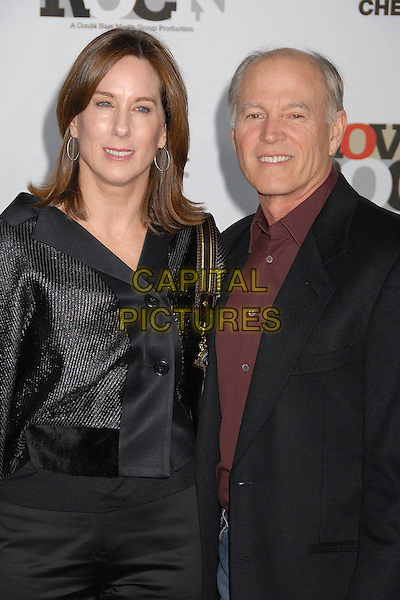 KATHLEEN KENNEDY & FRANK MARSHALL.2007 Movies Rock Celebration Presented by Conde Nast Media Group at the Kodak Theatre, Hollywood, California USA, 2 December 2007..half length.CAP/ADM/BP.©Byron Purvis/AdMedia/Capital Pictures.