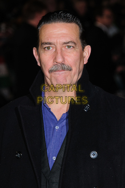 Ciaran Hinds.World Premiere of 'Woman in Black' at the Royal Festival Hall, London, England..January 24th 2012.headshot portrait black purple shirt moustache mustache facial hair .CAP/CJ.©Chris Joseph/Capital Pictures.